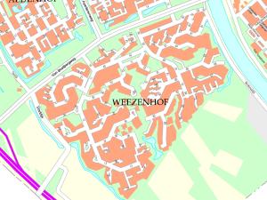 Plattegrond Weezenhof kleur